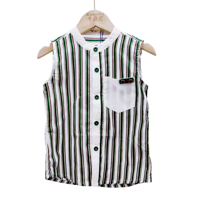 【超级秒杀】卡鹿芙童装 黑白条纹短袖T恤 正品保证