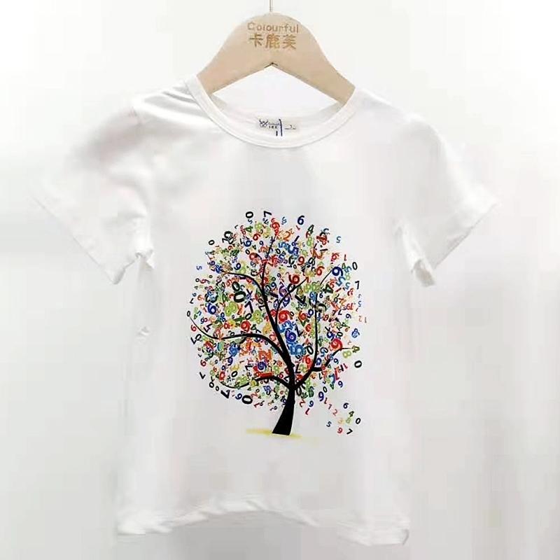 【超级秒杀】卡鹿芙童装 印花款白色T恤 正品保证