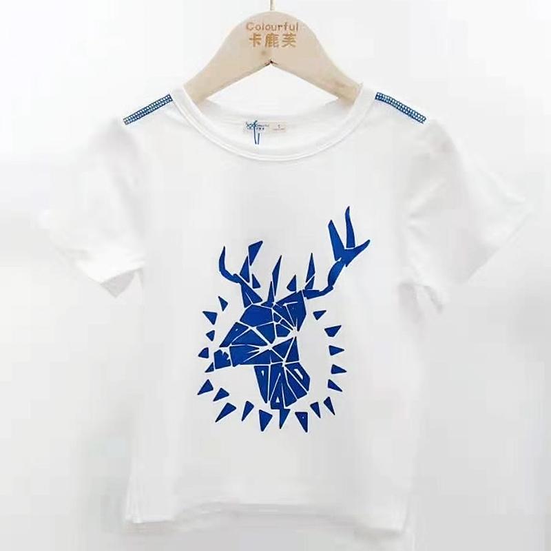 【超级秒杀】卡鹿芙童装 驯鹿款白色T恤 正品保证