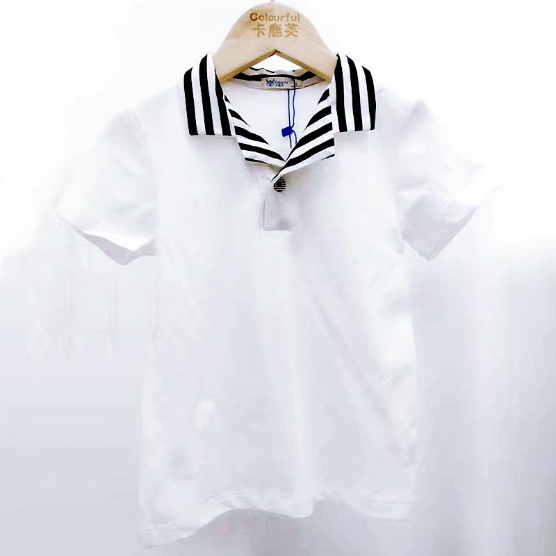 【超级秒杀】卡鹿芙童装 水手服条纹T恤 正品保证