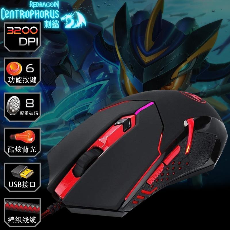 【办公用品】红龙刺鲨m601电脑商务办公USB有线鼠标