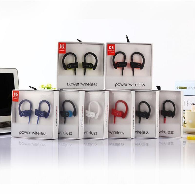 【手机配件】G5无线蓝牙耳机跑步运动式立体声双耳挂式4.1便携...