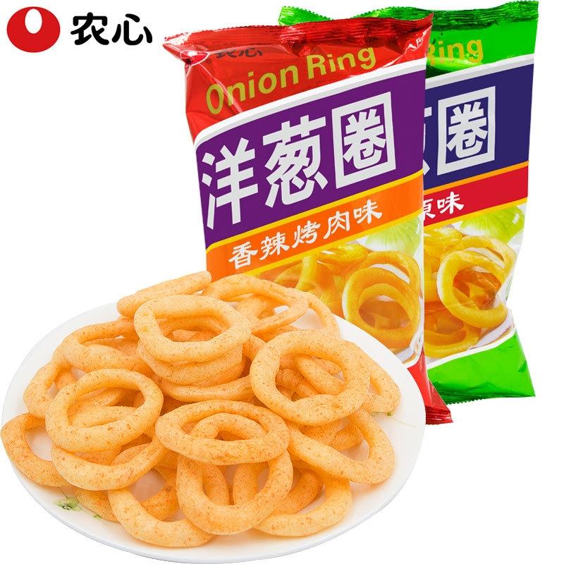 【美食零食】韩国农心 原味洋葱圈40g 休闲小零食品