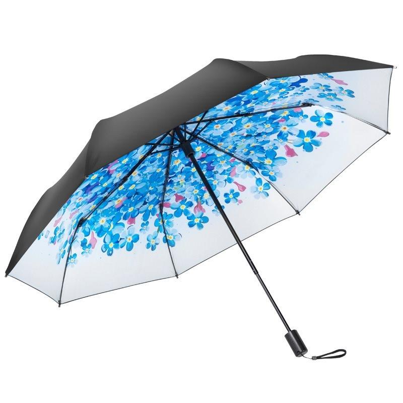 左都不透光五折口袋防紫外线遮阳太阳伞雨伞