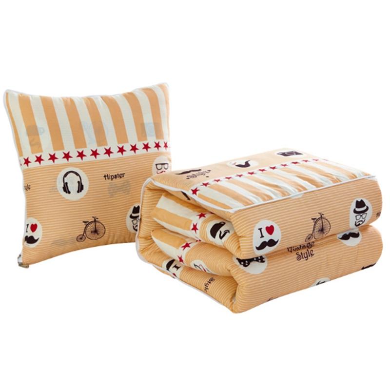 多功能卡通抱枕被子办公室汽车两用靠垫被