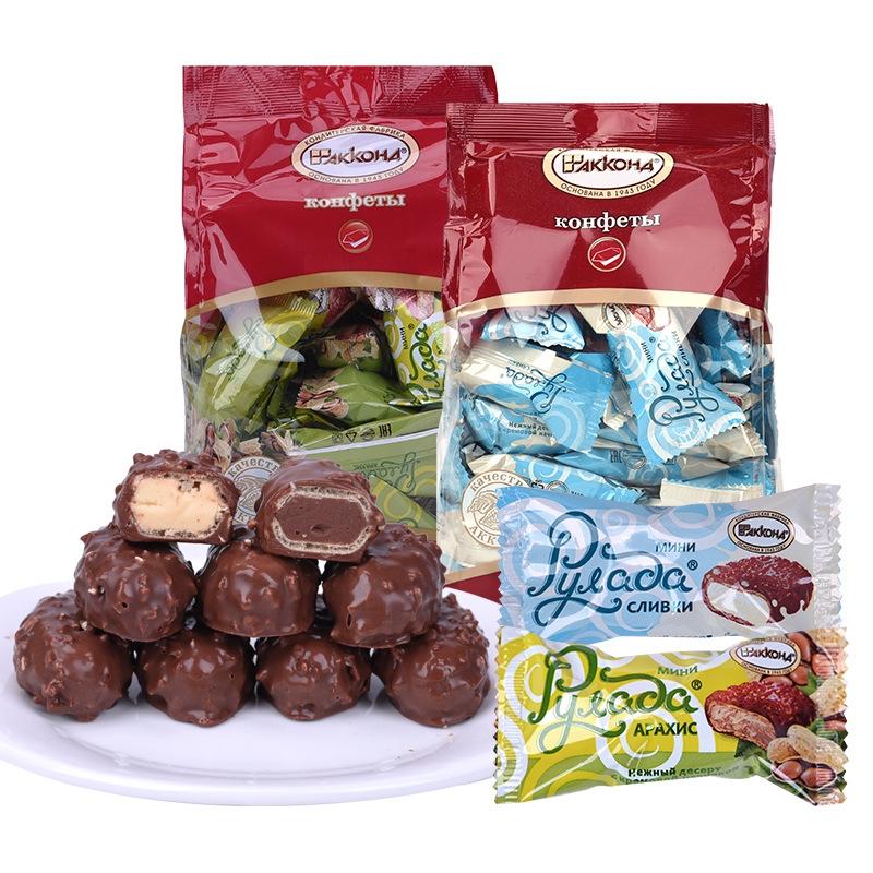 【零食美食】俄罗斯进口糖果阿孔特迷你鲁拉达巧克力糖