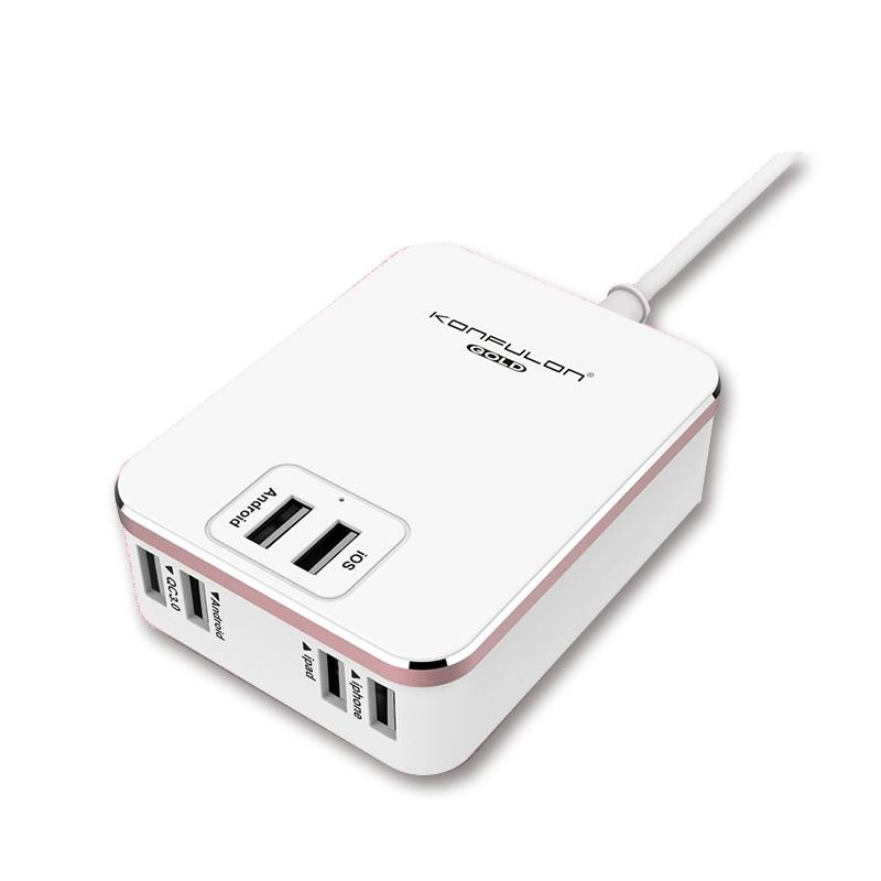 工夫龙6个USB口充电器