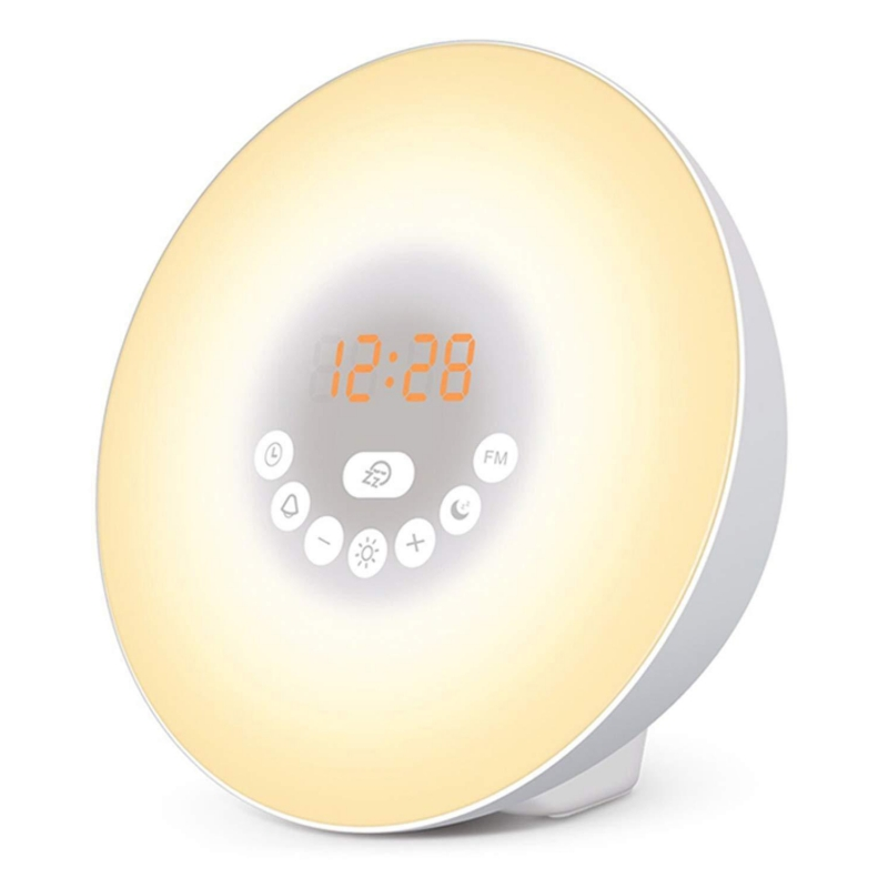 【闹钟蓝牙音箱】唤醒灯LED数字时钟 触摸控制 7色灯...