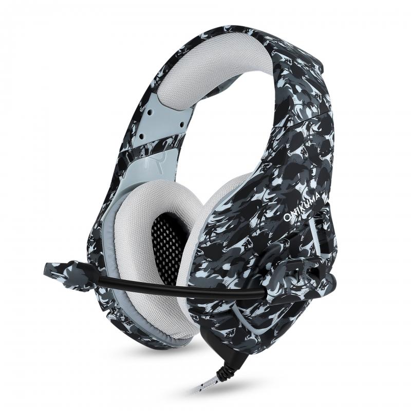 【数码电子】ONIKUMA K1-B迷彩色头戴式耳机线控