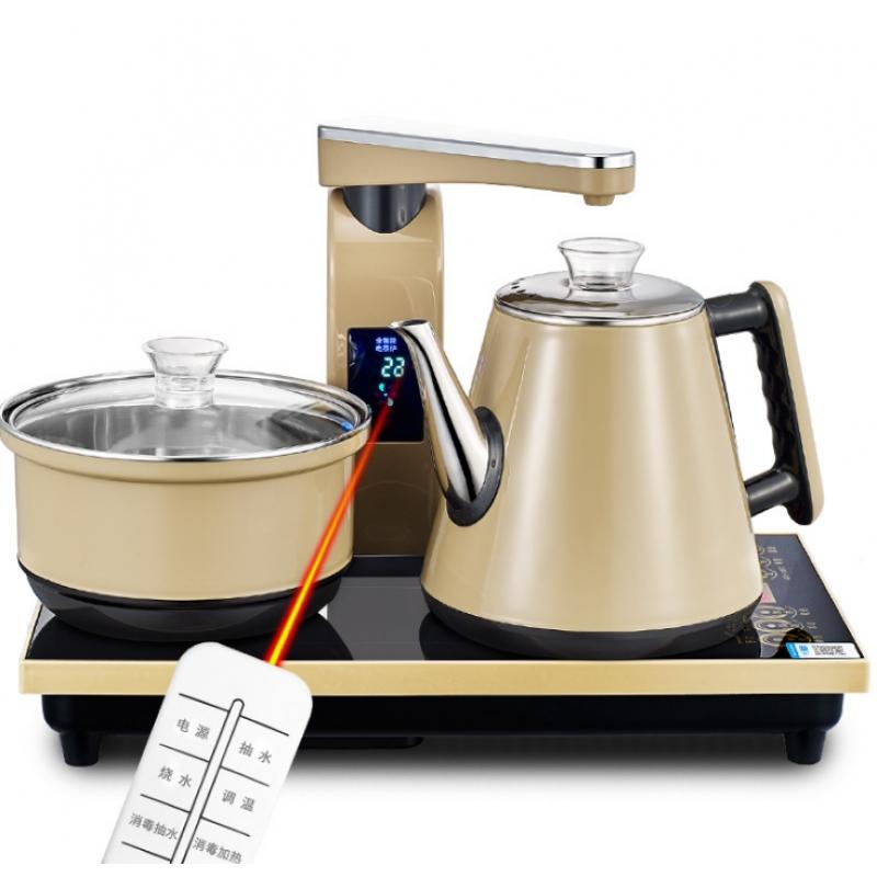 【美能迪】213智能恒温遥控包胶壶全自动上水电热水壶套装电茶...