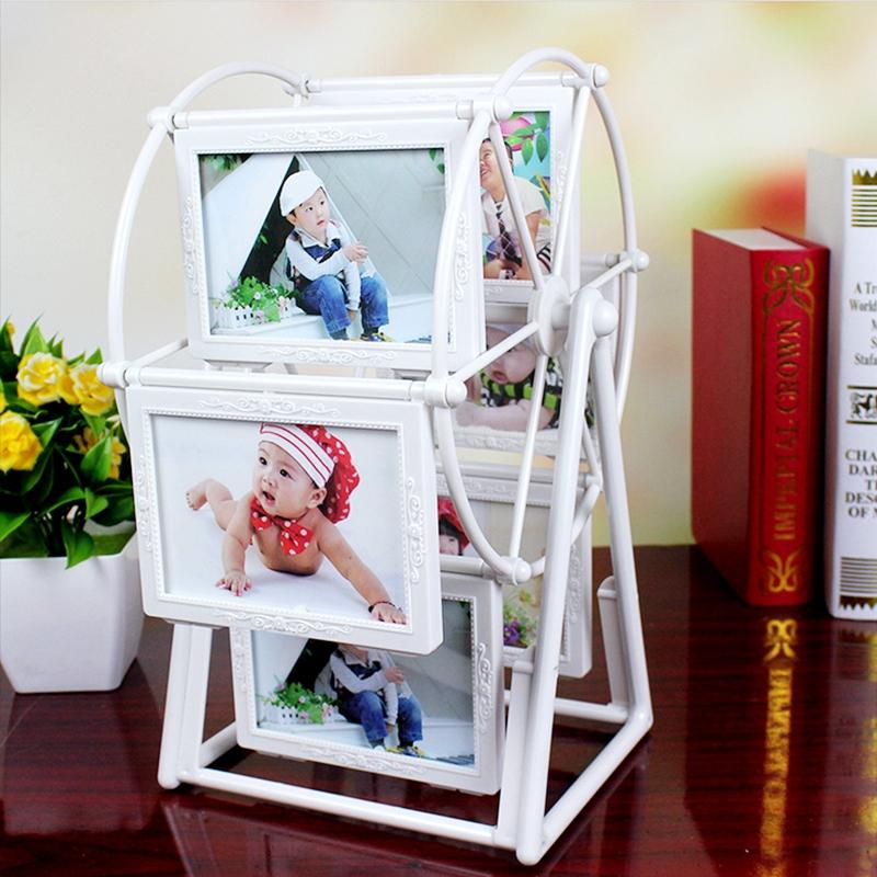 风车相框摆台 创意塑料儿童相框组合(5寸复古版)
